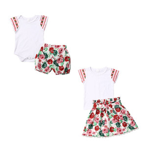 Dropshipping crianças irmãzinha Camisa das meninas / Romper + Calças Curtas 2pcs Jumpsuit playsuit Clothes Outfit Set