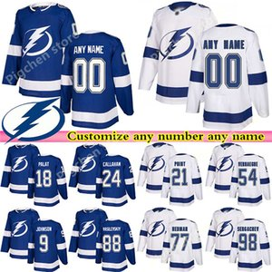 Uomini Custom bambini Womans Tampa Bay Lightning maglie 91 Steven Stamkos 86 Nikita Kucherov Hedman personalizzato qualsiasi numero qualsiasi nome hockey jersey