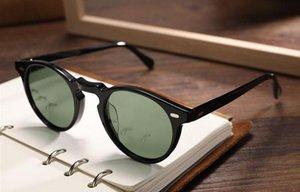 Hombres Mujeres 45 mm 47 mm 2 tamaño ov 5186 Gafas de sol polarizadas vintage ov5186 Retro Gregory Peck Brand Gafas de sol Gafas con estuche original