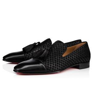 Nuovo abito da festa Slip slip on mocassini Scarpe per uomo Dandelion Tassel Sneaker Sneaker Bottom Possibilità di Oxford Scarpe Luxury Men's Tempo libero