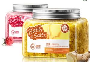 300g Santé Beauté Bain à la maison Rose Gingembre, sels de bain, exfoliants pour le corps, peau propre, nourrissante et hydratante