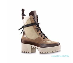 Martin boots designer Women flamingos Love arrow medal 100% real leather coarse Desert Boot US5-11 Winter Leather luxury woman shoes c02