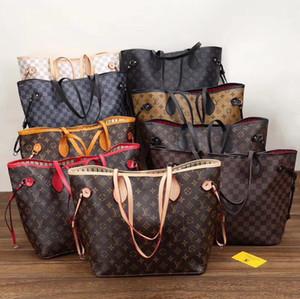 2pcs / set qulity dames de fleur sacs à main pour femmes design classique fourre-tout composite sacs à bandoulière embrayage en cuir PU sac à main femme Sac de shopping