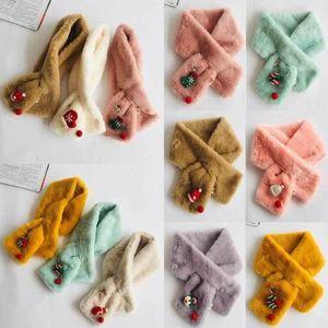 Muito quente Baby Kids Xmas Design Anel Lenços Floral de Santa Neck Winter Girl Collar bebê adorável Inverno Presente de Natal Scarf
