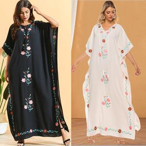 Afrika Kaftan Dubai Abaya Arap İslam Türkiye Eid Müslüman Elbise Abayas Kadınlar İçin Kaftan Marocain Türk İslam Giyim Mujer