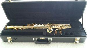 Japan Yanagisawa S-991 Soprano Saxophone Pearl Key B Flat Brass Gold Lacquer Sax Saxophone with Leather case