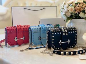Desinger femmes de luxe épaule sac à main de velours Sac crossbodybag avec des rivets de bateau gratuit