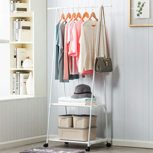 Multi-function Triangle Coat Rack Removable Bedroom Hanging Clothes Rack With Wheels Floor Standing Coat Rack Clothes Hanger
