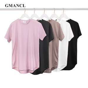 Men Summer New kanye west Classic style Solid color short sleeve Loose tshirts oversized Hip hop male O-neck Casual T shirts T200611