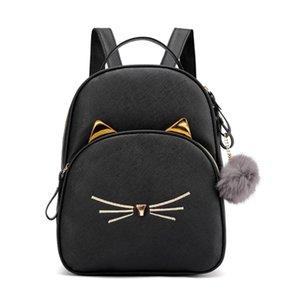 Mode Frauen Rucksack Mini Soft Touch Multifunktions Rucksack Weibliche Damen Umhängetasche Cartoon Cat Square Bagpack Plecak 2019 Y190627