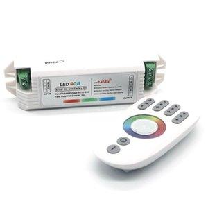 Edison2011 DC12v de 18A 4 -Zone 2 .4g Rf Led Dimmer Panneau écran tactile Rgb contrôleur pour Rgb Led Strip