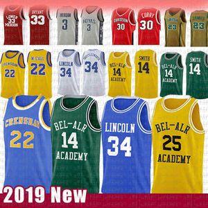Fresh 14 Will Smith principe pallacanestro Jersey 25 Carlton Banks 34 Gesù Navette-valore del film Love 22 McCall Jersey