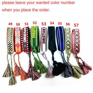 2020 nuovo arrivo gioielli intrecciato nappa braccialetto fascino classico tessuto Bangle Bracciali ricamati modo per le donne di compleanno della ragazza regalo M602F