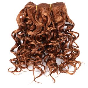 Lans Marly Bob estensioni dei capelli da 8 pollici Ombre sintetico Marly arricciatura del Jerry giamaicano rimbalzo Crochet dei capelli 110g / pc Afro crespo ricci Crochet Trecce