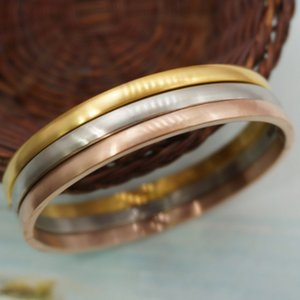 2020 New Brand Fashion Gold Plated Spherical Frosted Bangle 4MM & 6MM Women Beautiful Charm Gold Silver Rose Gold Bracelet Wholesale