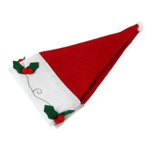 Chapéus de Papai Noel janela Valance Decorações de Natal Xmas Curtain Decor Ornaments Red (Tamanho: 35.43in por 16.53in, Cor: vermelho)