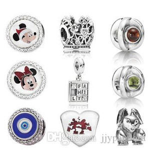 WPENNYI 925 Sterling Silver 1: 1 Rabbit Princess Crown Charm Game Family Game Suspender Charme Esmalte Evil Eye Bead Edition Limited