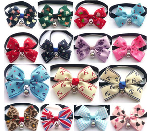 New 18 styles High quality Pet tie personality dog accessories pet collar With a bell pet supplies SN2531