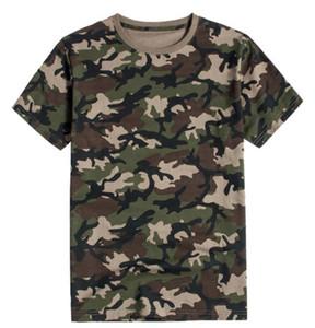 Камуфляж печать Mens конструктора Tshirts моды шея экипаж с коротким рукавом Щитового мужского Tees Casual Самцами одежды