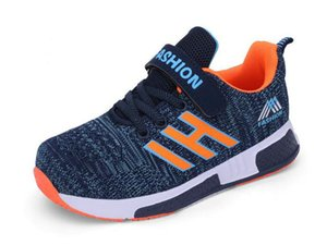 Jeff Sneaker كبير أطفال أطفال ملكي أزرق بارد عارضة أزياء أحذية مريحة شبكة خفيفة الوزن