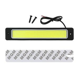 Otomobil için LED DRL Esnek Su geçirmez COB Gündüz Basamak Işık Oto İç Okuma Işık Beyaz 6500K 190x35mm 1pcs gövdede