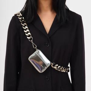 2020 nouveau KARA épais sac de chaîne en métal BLACK BIKE sac à bandoulière WALLET mini-petite explosion ins de porte-monnaie de poche de poitrine