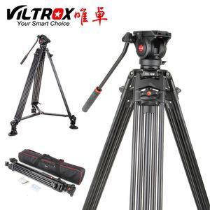 Estável Viltrox VX-18M 1.8M Professional Heavy Duty alumínio antiderrapante Vídeo Tripé + Fluido Pan Cabeça + Carry Bag para Camera DV T191025
