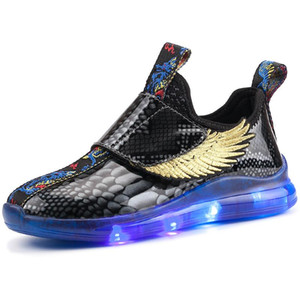 Kids Light up Shoes with wing Children Led Shoes Boy&Girl Glowing Luminous Sneakers Party Glowing Sneakers