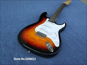 guitare ST-électrique avec haut érable pommelé, 3 ts couleur, de haute qualité, très belle, de vraies photos, livraison gratuite!