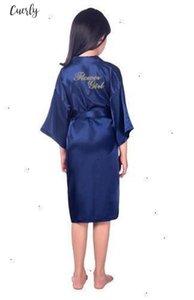 Girls Flower Robe For Bride Wedding Party Short Children Kids Kimono Bath Gown Child Sleepwear Nightdress Woman Sleepwear