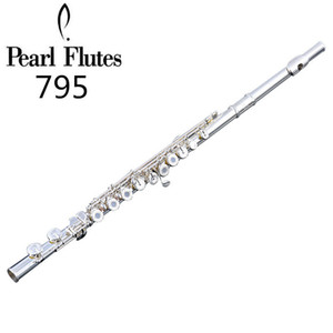 Pearl Quantz PF-795 17 Keys Open Holes Flute Silver Plated Surface Cupronickel Flute C Tune E Key Flute Musical Instrument With Case