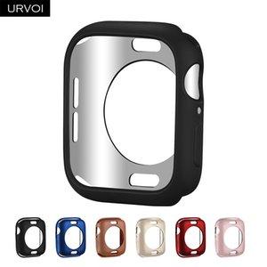 URVOI Bumper für Apple Watch 4 5 3 2 TPU Fallabdeckung für iwatch Schutz slim fit Rahmen matte Farbe malen 38 40 42 44mm
