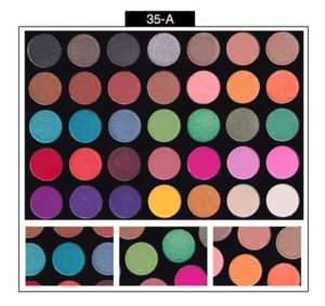 NEW palette eyeshadow makeup Ultra Pigmented Glitter Shadows Shimmer Beauty cleof cosmetics eye shadow Palette 35 colors set for DHL
