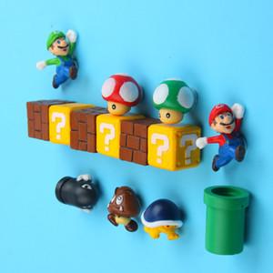10pcs 3D Super Mario Bros Frigorífico Imanes Imanes engomada del mensaje del hombre de mediana muchacho de la muchacha niños de los niños del regalo de cumpleaños del juguete