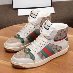 Uomini di alta qualità calza Tipo Modo di lusso degli uomini '; S cuoio di alta -Top Sneaker Stivali da uomo traspirante Mens Stivaletti Luxury Style D