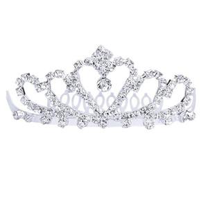 Wedding Bridal Sparkling Crystal Rhinestones Crown   Tiara   Headband with Comb (Silver)