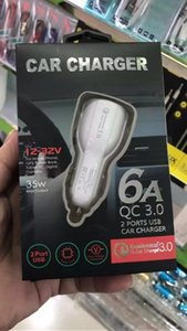 QC3.0 6 A Fast Car Charger Led Quick Dual USB Charging Adaptive 9V 5V 12V For Samsung S8 Note 8 Any Phone