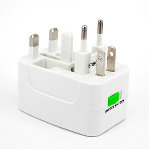 Wholesale 20ps lot All in One Universal Plug Adapter World Travel AC DC Power Socket Charger Adaptors with AU US UK EU Converter plug