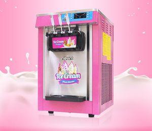 Heißer Verkauf gelato Tischplatte mini Softeis Milchshake Automat 3 Flavors Ice Cream Maker 18-22L / H