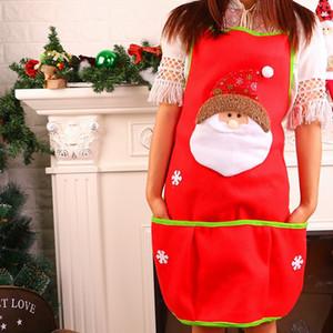 Nonwoven Yetişkin Önlük Noel Baba Kardan Adam Tema Pinafore Yenilik Önlükleri Noel Partisi Ev Eşyaları Için Yüksek Kalite 10qy E1