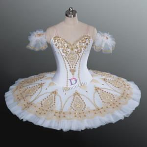 AP073 trajes frete grátis branco cisne lago tutu do bailado, meninas professonal tutu de ballet em branco, balé clássico vestido de tutu