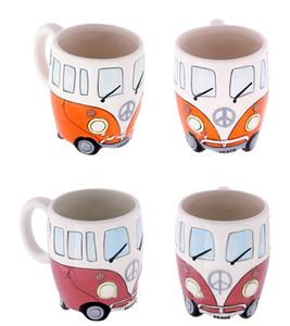 Keramische geformte Kaffeetasse Camper Van Mug-Koffer überfällt Geschenke für Kinder Porzellantassen für Kaffee Weihnachtsgeschenk glückliche Tasse