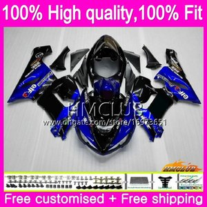 100%Fit Injection For KAWASAKI ZX-636 ZX 6R 600CC ZX 6 R ZX636 05 56HM.4 ZX6R 05 06 ZX600 ZX 636 ZX-6R 2005 2006 OEM Blue black Fairings
