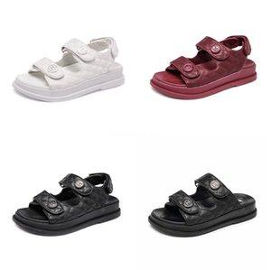 Лучшие моды Kanye пены Runner Дизайнерские обувь Bone White Desert Sand Сандал Тройной Белый Красный Черный Лето Роскошные Женщины Женщины Платформа Сандал # 3