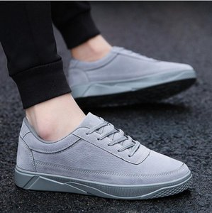 Free shipping 01 autumn and winter Korean version of the trend of men's shoes outside the increase of social wild belt leather shoes men's s