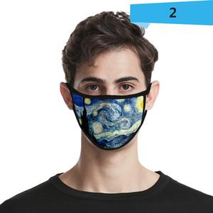 супер небо 3D пылезащитная мода печать ледяной шелк мальчики девочки детские маски взрослый дизайнер маска для лица хлопчатобумажная маска многоразовая моющаяся быстрая доставка