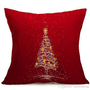 10 Tasarım Merry Christmas Noel Baba baskılı kanepe yastık örtüsü araba bel yastık kılıfı ev dekorasyon Yeni Yılınız Kutlu Olsun hediyeler yastık kılıfı