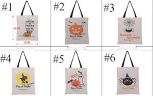 Большой Хэллоуин холщовый мешок многоразовый мешок ткани для трюк или лечения Хэллоуин конфеты Подарочные мешки Подарочные Sack Сумки