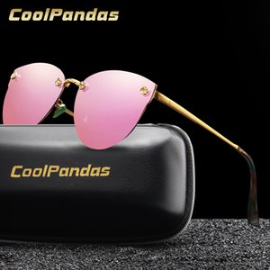 2020 Designer Women Polarized Sunglasses Classic Pink Cateye Mirror Glasses Steampunk for Ladies rays Goggles UV400