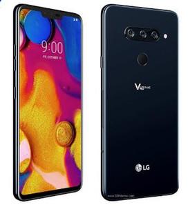 """쓰자 원래 잠금 해제 LG V40 ThinQ 6.4 """"6 기가 바이트 RAM 64 기가 바이트 ROM 안드로이드 옥타 코어 듀얼 전면 3 후면 카메라 지문 NFC 휴대 전화"""